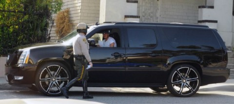David Beckham Cadillac Escalade Cop Ticket Pulled Over
