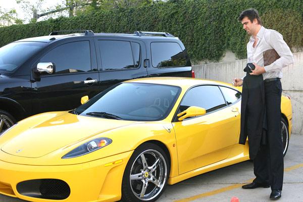 Mehmet okur 39 s yellow ferrari celebrity carz Celebrity motors