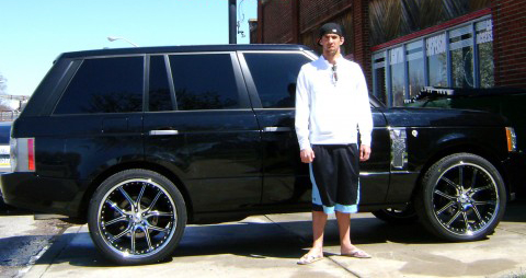 Michael Phelps Black Range Rover