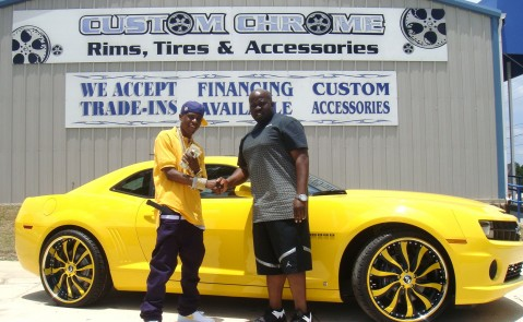 Lil Boosie Yellow Camaro