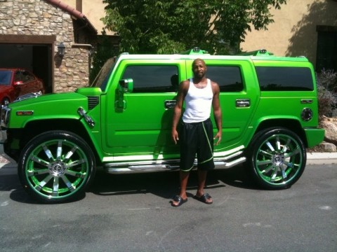 Anthony Carter Green Hummer H2