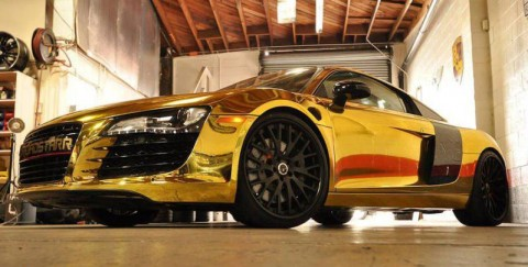 tyga, gold, chrome, r8, vinyl, wrap, paint