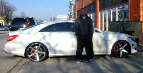 Ray Rice White Mercedes Benz Cls Celebrity Carz